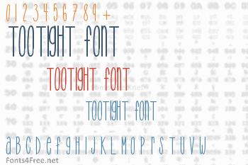 TooTight Font