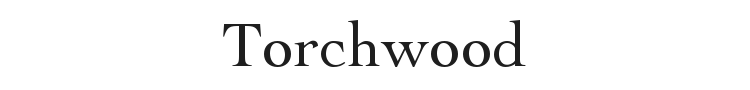 Torchwood Font Preview