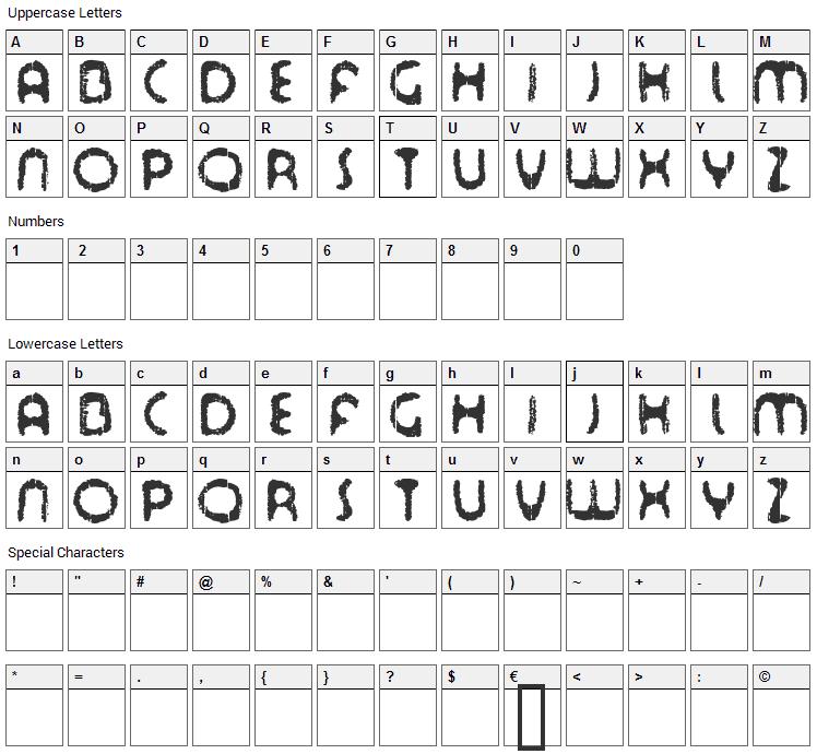 Tour de Font Font Character Map