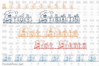 Toy Train Font