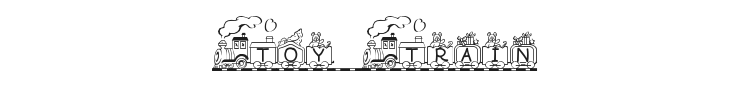 Toy Train Font Preview