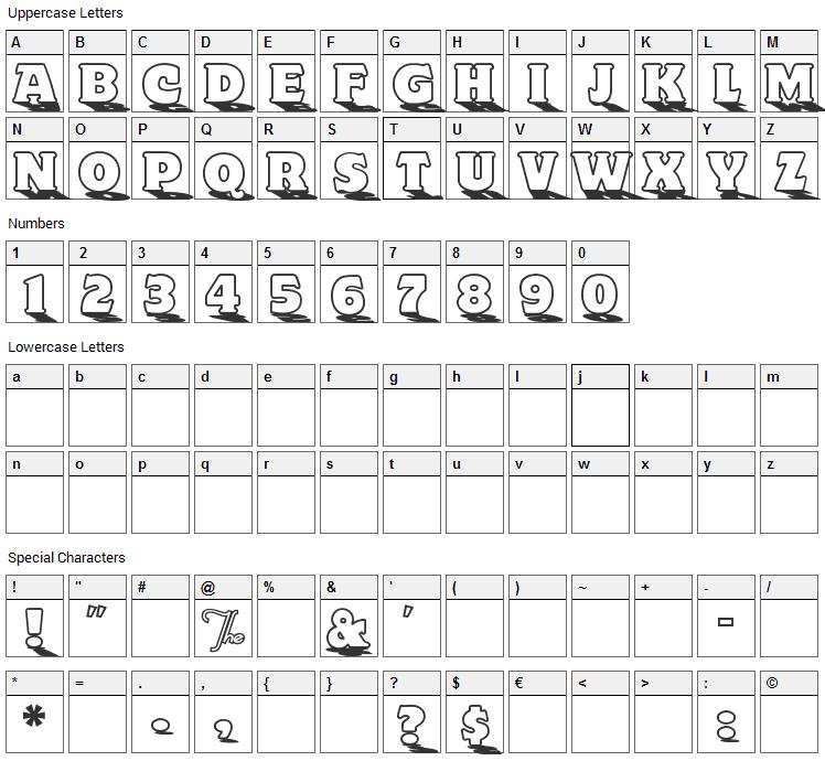 Toyland Font Character Map