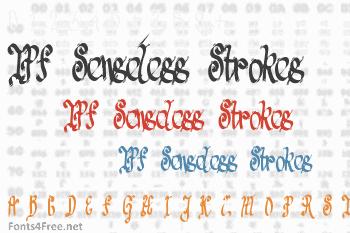 TPF Senseless Strokes Font