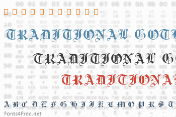 Traditional Gothic Font