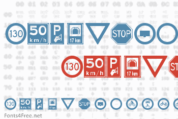Traffic Signs Font