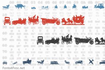 Transportation Dings Font
