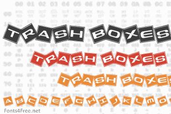 Trash Boxes Font