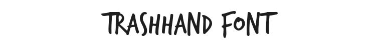 TrashHand Font Preview