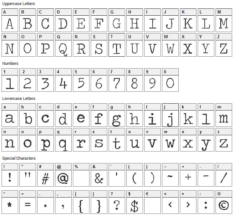 Traveling typewriter font download
