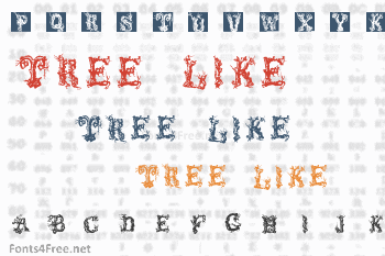 Tree Like Font