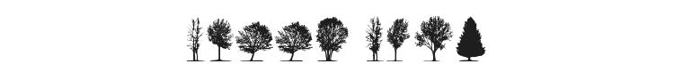 Trees Font Preview