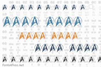 Trek Arrowcaps Font