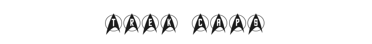 Trek Arrowcaps Font Preview