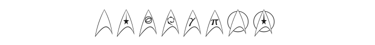 Trek Arrowheads Font Preview