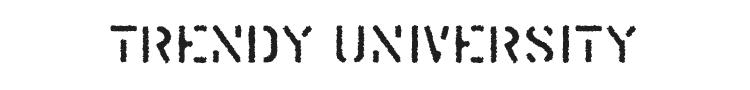 Trendy University Font Preview