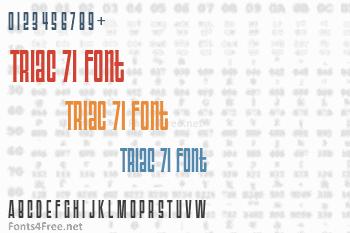 Triac 71 Font