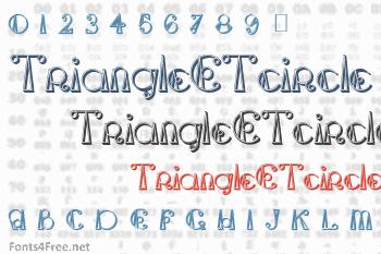 TriangleETcircle Shadow Font