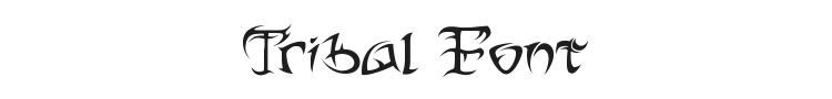 Tribal Font Preview