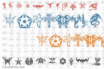 Tribal Tattoo Font