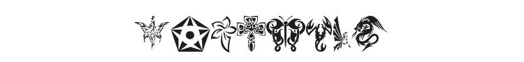 Tribal Tattoo Font Preview