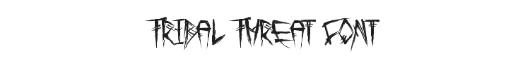 Tribal Threat Font Preview