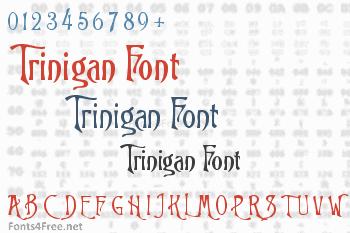 Trinigan Font