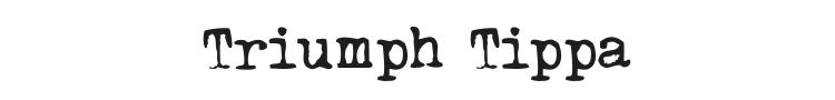 Triumph Tippa Font Preview