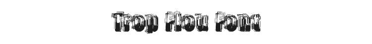 Trop Flou Font Preview