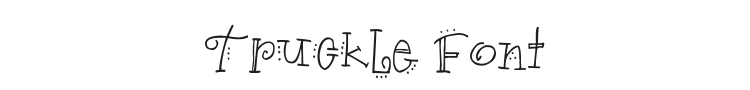 Truckle Font Preview