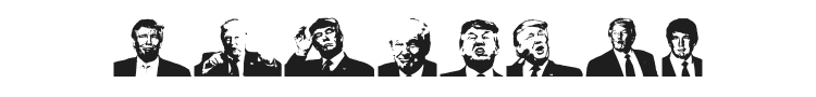 Trump Font Preview