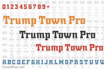 Trump Town Pro Font