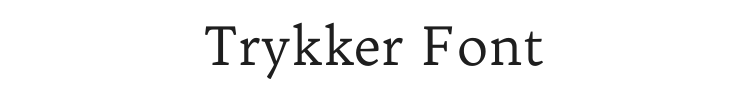 Trykker Font Preview
