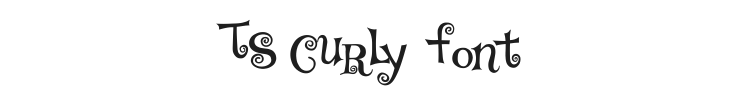 TS Curly Font Preview
