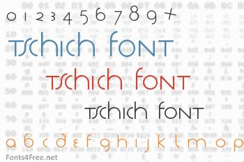 Tschich Font