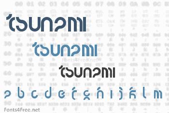 Tsunami Font