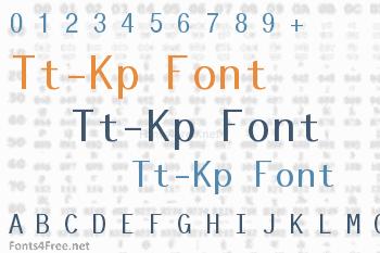 Tt-Kp Font