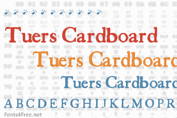 Tuers Cardboard Font