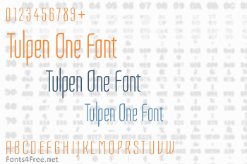 Tulpen One Font
