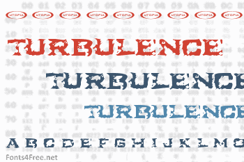 Turbulence Font