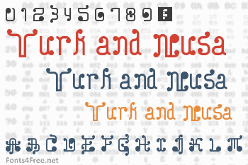 Turk and Nusa Font