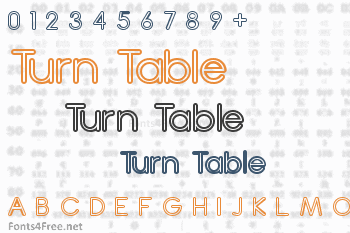 Turn Table Font