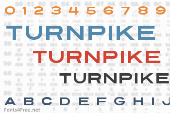 Turnpike Font