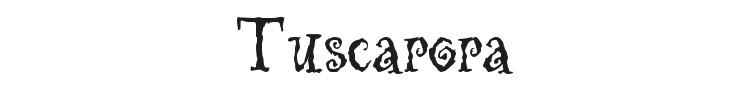 Tuscarora Font Preview