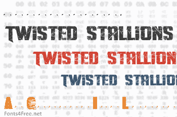 Twisted Stallions Font