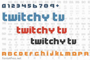 Twitchy TV Font