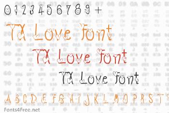 TX Love Font