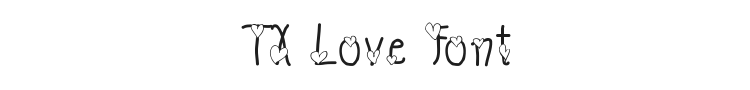TX Love Font Preview