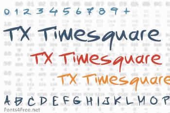 TX Timesquare Font