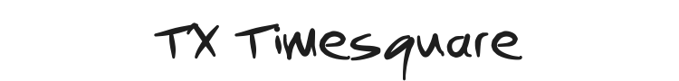 TX Timesquare Font Preview