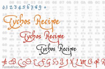 Tychos Recipe Font